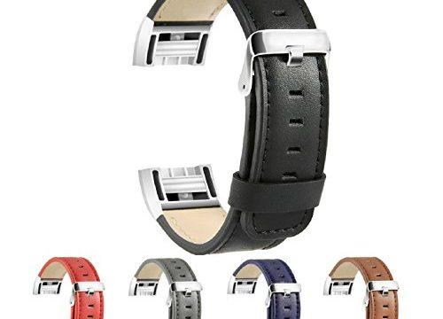 Ersatz Fitbit Charge 2 Armb?nd, BeneStellar Ersatz Leder Band f¨¹r Fitbit Charge 2 Schwarz¡