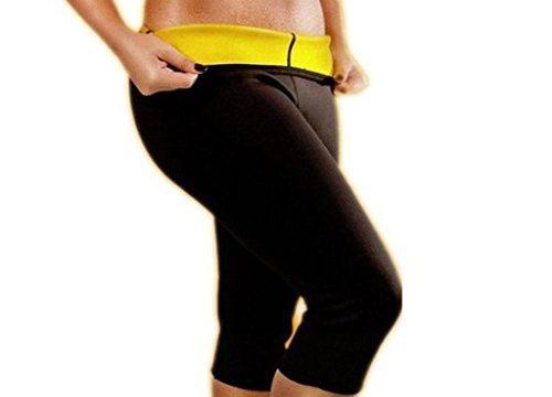 DODOING Damen Mädchen Hot Capri Shapers Pants Schwitzhose Fitnesshose Training Capri Schlank Hose Neopren