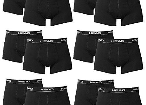 HEAD Herren Boxer Boxershort Unterhose 12er Pack in vielen Farben Black, L