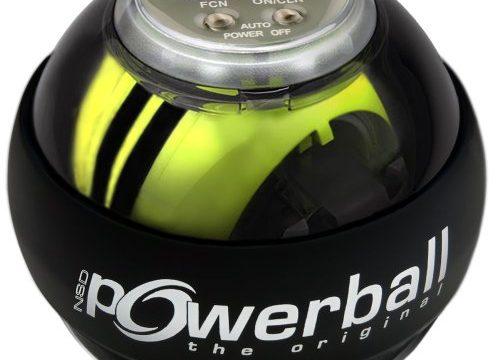 Kernpower Hand- Und Armtrainer Powerball The Original Autostart Plus Digitalem Drehzahlmesser, grau transparent, 070,