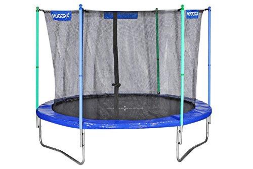 HUDORA Fitness Trampolin/Gartentrampolin, mit Sicherheitsnetz, blau/grün, 300 cm, 65312