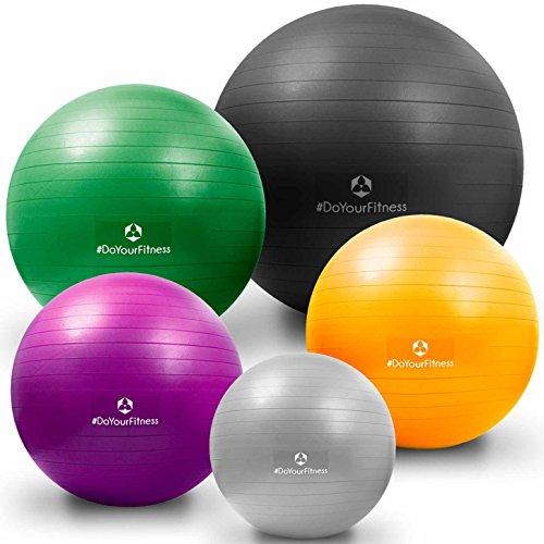 Gymnastikball »Orion« / Robuster Sitzball und Fitnessball von 55cm 65cm 75cm & 85cm inklusive Ballpumpe! / 65 cm / skyblue