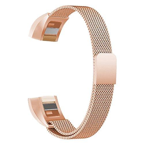 Neueste Fitbit Alta HR und Alta Armband, BeneStellar Einstellbar Köper Ersatz Armband für Fitbit Alta hr and Alta Band mit Metallschließe 0Rosegold