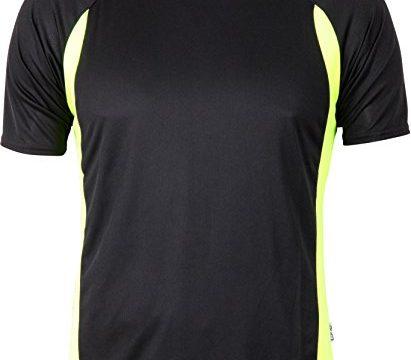 Cona Racer – zweifarbiges Sport-Funktions Shirt Farbe Black/Neon Yellow Größe XL