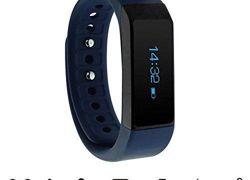 smart bracelet – fitness tracker – Smartwatch für Android Smartphone und iPhone, Schrittzähler, Push-Message und Anrufer – endubro i5 plus Fitness Armband – ID Benachrichtigung Blau