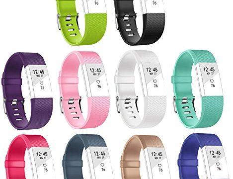 Ersatz Fitbit Charge 2 Armbänd In Packungen, BeneStellar Ersatz Klassisch Armband für Fitbit Charge 2 Schwarz, Small 5.7″-7.8″