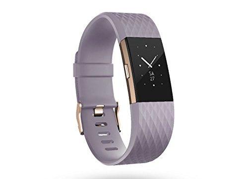 Fitbit Charge 2 Special Edition Unisex Armband Zur Herzfrequenz und Fitnessaufzeichnung, Lavendel/Rose-Gold, L, FB407RGLVL-EU