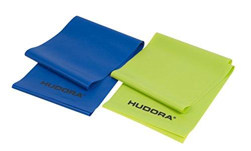 64147 – Gymnastik-Band elastisch – HUDORA Fitness-Band Set 2 Stück, blau & grün