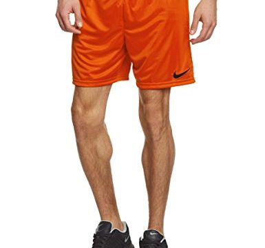 Nike Herren Shorts Park II Knit ohne Innenslip, Sicherheit Orange / Schwarz, Gr. L, 448224-815
