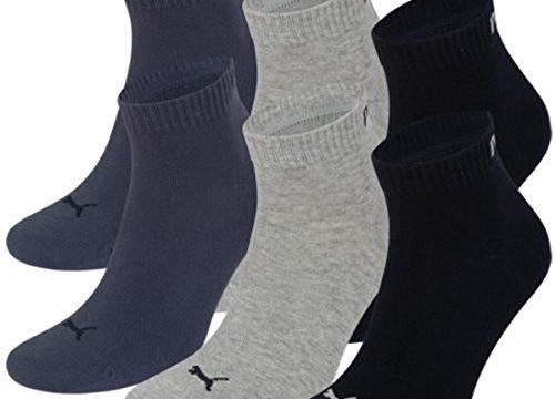 PUMA Unisex Quarters Socken Sportsocken 6er Pack navy-grey-blue / navy-grey-blue, 39-42