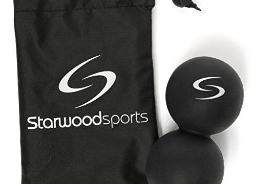 Für Faszientherapie, Triggerpunkttherapie & Tiefengewebsmassage – Der beste Ball für Crossfit & Yoga – Massageball – Doppelter Twin Lacrosse Ball – Lebenslange Garantie
