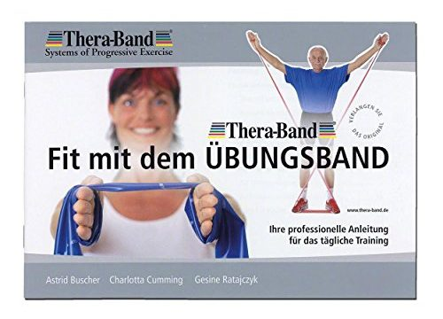 Thera-Band original Übungsband + Übungsbuch gratis color: red