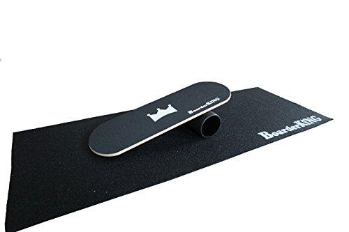 """surfen im Wohnzimmer mit Schutzmatte, 140mm Rollendurchmesser – Indoorboard """"BoarderKING"""" Skateboard Surfboard Balanceboard"""