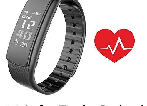 ID Benachrichtigung – NEUE VERSION endubro® i7HR Fitness Armband mit Herzfrequenz – Monitor für Android Smartphone und iPhone, Schrittzähler, Push-Message und Anrufer