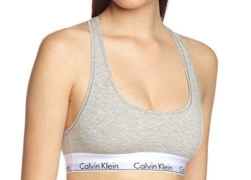 Calvin Klein Damen Bustier MODERN – BRALETTE, Einfarbig, Grau GREY HEATHER 020, 36 Herstellergröße: S