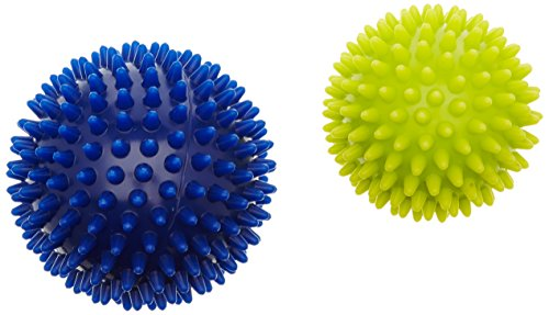 76769 – Noppenball – HUDORA Fitness Massage-Ball Igel Set, blau/gelb
