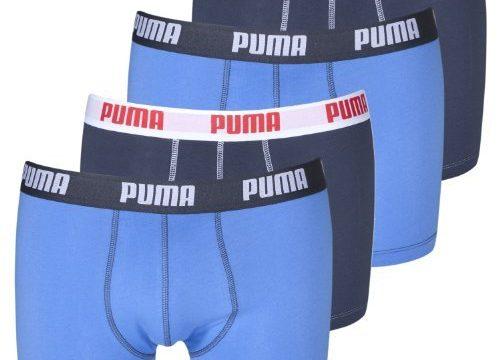 4 er Pack Puma Boxer shorts / Blue / Size L / Herren Unterhose
