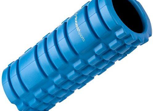 Reha, Fitness, CrossFit, Yoga & Pilates – Triggerpunkt-Massagerolle – Fitnessrolle zur Tiefengewebsmassage und Faszientherapie – Lebenslange Garantie Außen: Blau, Innen: Schwarz