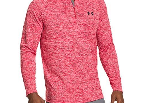 Under Armour Herren Fitness Sweatshirt UA Tech 1/4 Zip, Rot Red, L, 1242220-600