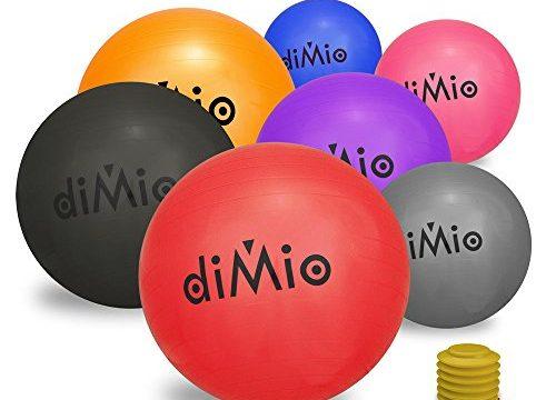 diMio Gymnastikball 55 cm schwarz inkl. Pumpe 55-65cm, 7 Farben