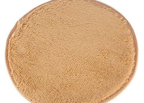 DODOING Khaki Modern Shag Bereich Teppiche Wohnzimmer Teppich Schlafzimmer Teppich für Kinder Spielen Solid Home Decorator Teppichboden, Durchmesser 39.4inch/100cm