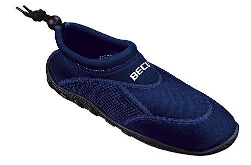 BECO Surfschuhe Badeschuhe Herren Badeschuhe Beachschuhe blau Gr 46