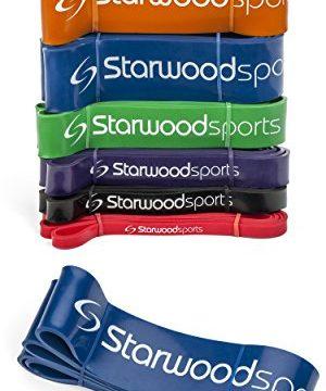 für Crossfit, Kraftdreikampf, Unterstützung bei Klimmzügen – Fitnessband für Damen und Herren – 175 lbs – 1 Stück Blau 65