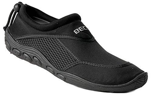 BECO Surfschuhe Bade Schuhe Herren Sneaker Aqua Beachschuhe schwarz Gr 46