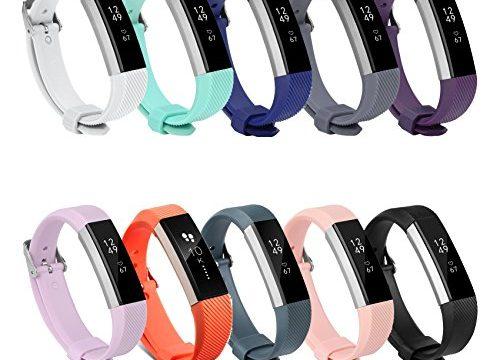 Neueste Fitbit Alta Hr und Alta Armband, BeneStellar Einstellbar Köper Ersatz Armband für Fitbit Alta hr and Alta Band mit Metallschließe 10-Pack