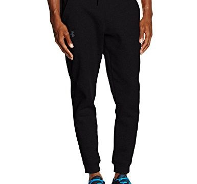 Under Armour Herren Fitness Storm Rival Cotton Joggers Hose, Schwarz, L