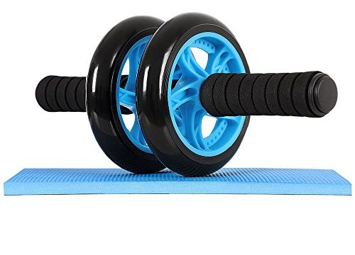 Songmics Bauchtrainer Roller AB Roller AB Wheel mit Knie Pad Blau SPU75P