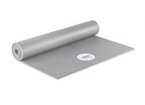 Lotuscrafts Yogamatte Mudra STUDIO | Für Anfänger und Fortgeschrittene | Yogamatte rutschfest schadstofffrei in vielen Farben | für Yoga Pilates, Entspannung und Training Zementgrau