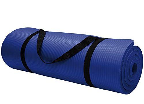Yoga-Matte in vielen verschiedenen Größen und Farben rutschfest phthalatfrei für Gymnastik Turnen Pilates extra dick, Farbe:Balance Blue;Maße:185 x 80 x 1.5 cm
