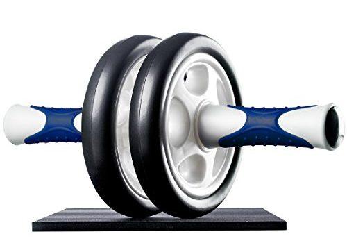 Ultrasport Bauchtrainer ab Roller Handliches Fitnessgerät und Bauchmuskeltrainer – Trainiert Bauch, Muskulatur und Rücken, Navy, OS