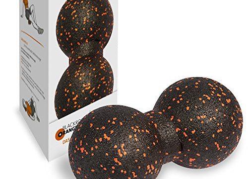 Massageball Blackroll Orange TwinBALL-orange: Faszien Doppelball 12 cm zur Massage von Rücken, Fuß, Hand, Armen und Beinen. Zur Triggerpunkt Behandlung bei Nackenschmerzen, Rückenschmerzen & Verspannungen oder für Gymnastik, Pilates & Regeneration.