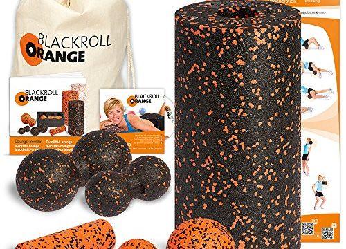 Komplett-Set STANDARD mit miniBAG, Übungs-DVD, -Poster und -Booklet – Blackroll Orange Das Original DIE Selbstmassagerolle
