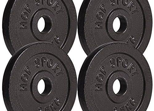 Hop-Sport Hantelscheiben 5kg 10kg 20kg 30kg 40kg Guss Gewichte Hantel Set Gewichtsscheiben 30mm 4 x 2,5 kg