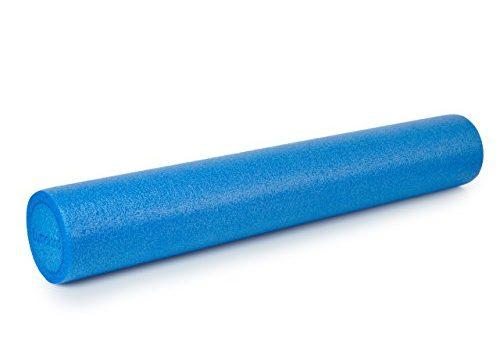 Lumaland Pilates Rolle multifunktionale Gymnastikrolle Hartschaum rund 90cm verschiedene Farben Blau