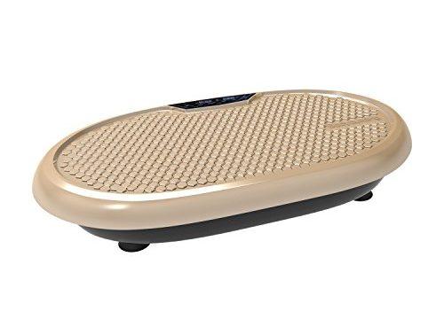 JUFIT Shaper Vibrationsplatte Trainingsgerät mit Fernbedienung großer rutschsicheren Trainingsfläche 199 unterschiedliche Geschwindigkeiten Gold