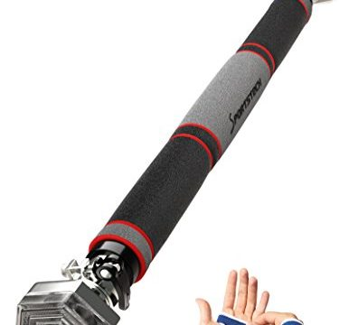 TESTSIEGER 2017* Klimmzugstange mit patentiertem hexagonalem System von Sportstech KS200 Silber-103 cm