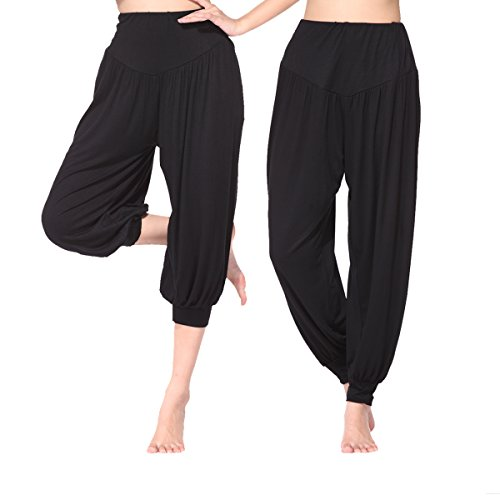 MEISHINE/® Damen Modal Elastisch Haremshose Pluderhose Pumphose Ideal f/ür Sport Yoga Tanz Jogging Dance