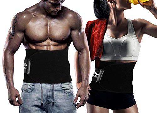 WADEO Waist Trimmer – Verstellbarer Ab Sauna Gürtel, Premium Bauch Fett Burner Sweat Wrap und Workout Waist Trainer für Männer und Frauen