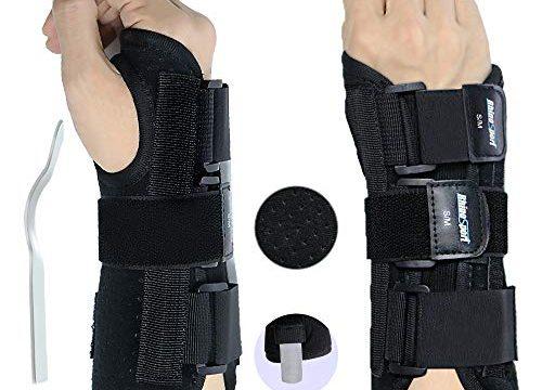 RhinoSport Handgelenkbandage Handgelenkstütze Handgelenkschiene, Schutzfunktion Schmerzlinderung und die Stabilität unterstützen, behilflich für Männer und Frauen Rechte, M/L