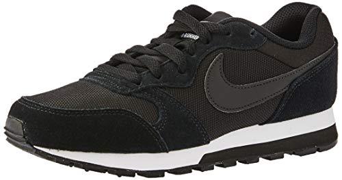 Nike Damen Md Runner 2 Laufschuhe Schwarz Black-White 001, 44 EU