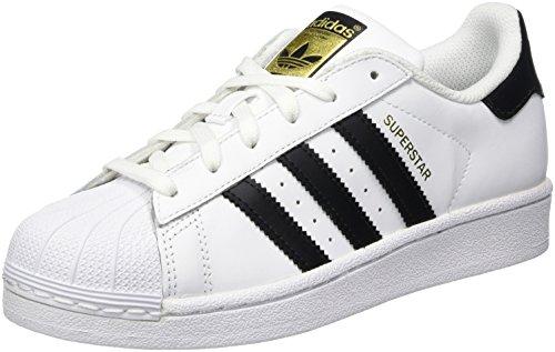 adidas Unisex-Kinder Superstar J-C77154 Low-Top Weiß Core Black/FTWR White, 35.5 EU