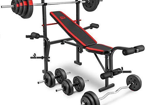134,5 kg zur Wahl Lang- , Curl- & Kurzhantelstange 48 kg – Hop-Sport zusammenklappbare Hantelbank HS-1055 mit Butterfly und Beincurler Inkl. 39,5 kg