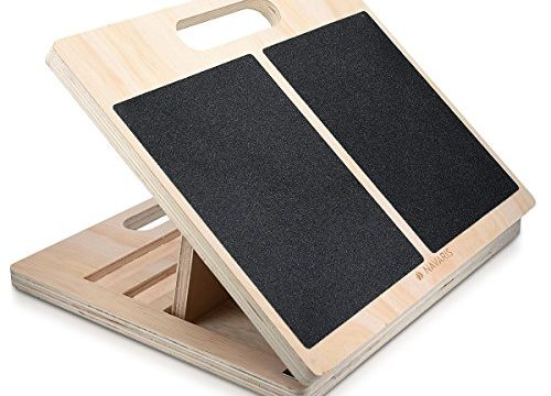Fuß Stretcher Wadenstrecker – Navaris Stretch Board Waden Training – Anti-Rutsch Dehn-Board für max. 150kg aus Holz – Dehnen von Oberschenkel Zehen
