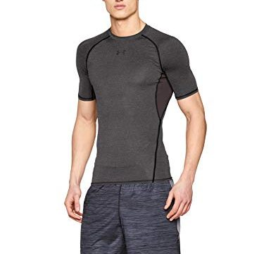 Under Armour Herren Heatgear Fitness Funktionsshirt, Carbon Heather, L