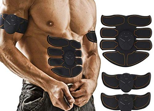 YuDy Abs Trainer, EMS Trainingsgerät für Arm Bauch Beine Bizeps Trizeps Sportgerät für Zuhause 6 Modi 10 Klassen für Herren und Damen