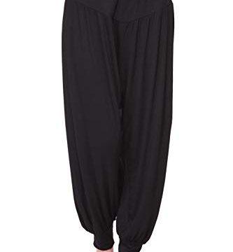Wtiea Haremshose Yogahose Pilates Hosen Jogginghose Freizeithosen Weiche Odile Lange Hose für Damen